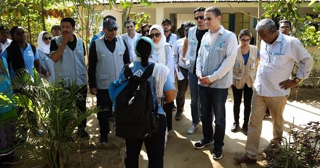 مؤسسة القلب الكبير تزور لاجئي الروهينغا في مخيم كوتوبالونغ
