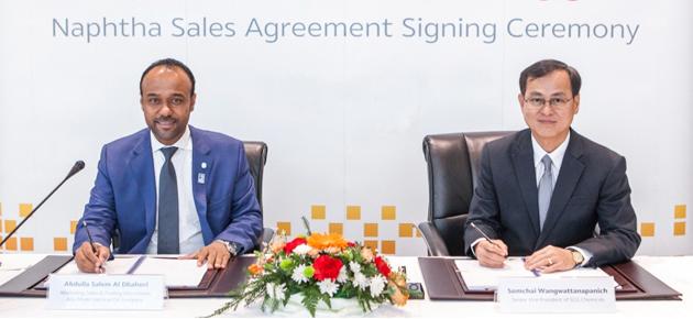 أدنوك توقع اتفاقيتين لبيع 1.5 مليون طن نافتا سنوياً