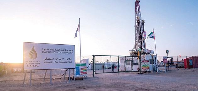 بدء إنتاج الغاز في بئر محاني 1 بالشارقة بعد عام على اكتشافه